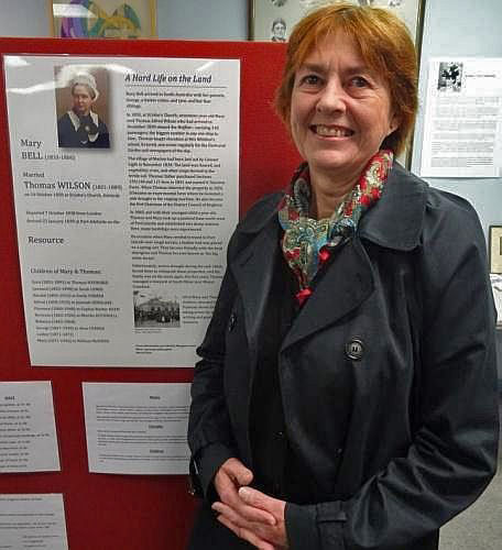 2016 Margaret Lewis with her Mary Bell Poster Exhibition